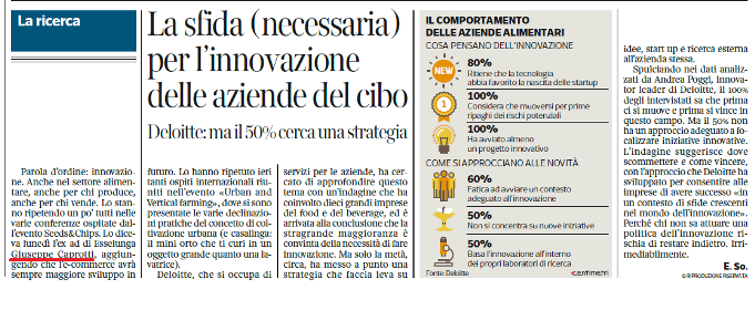 Giuseppe Caprotti a Seeds and Chips Corriere 10 Maggio 2017 1