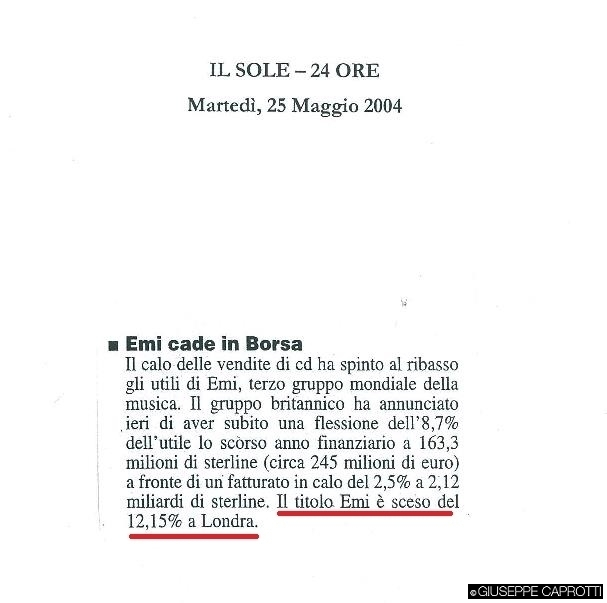 Emi cade in Borsa1