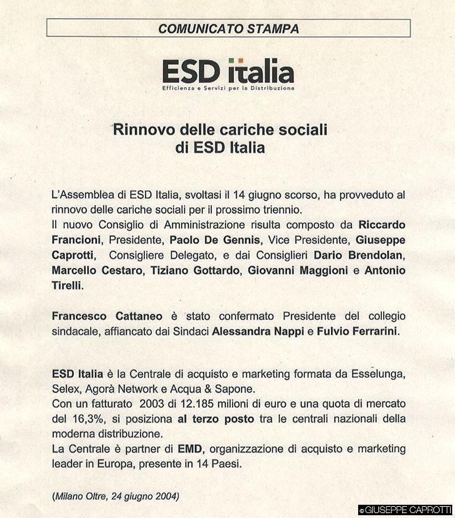 Esd comunicato 2004