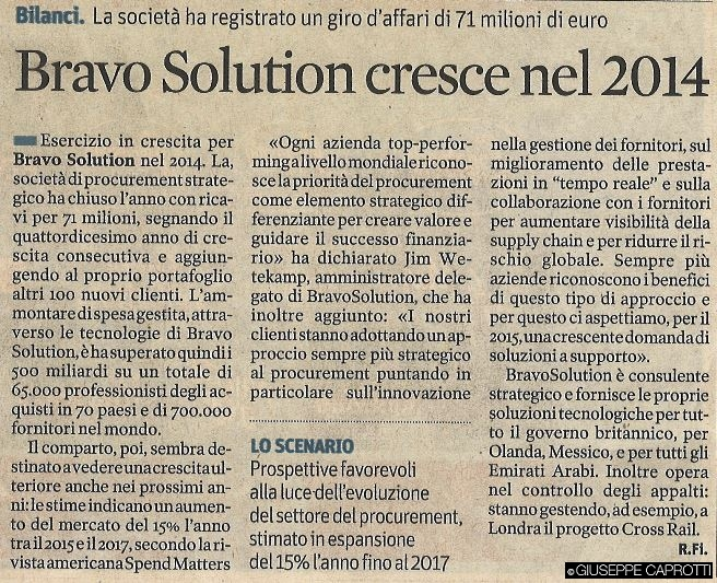 Esd punto 4 Bravosolution il sole 24 ore