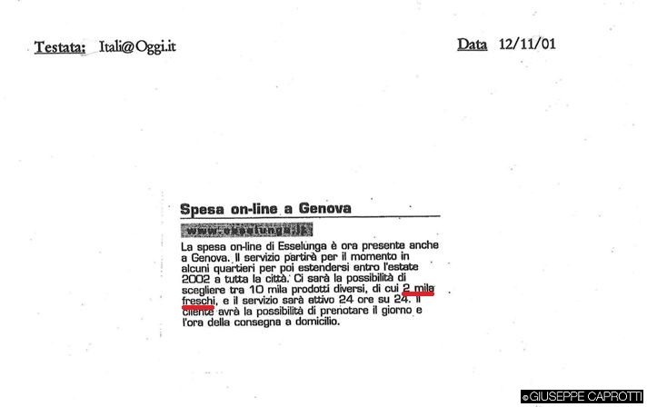 Esselunga a casa Genova 2001 3