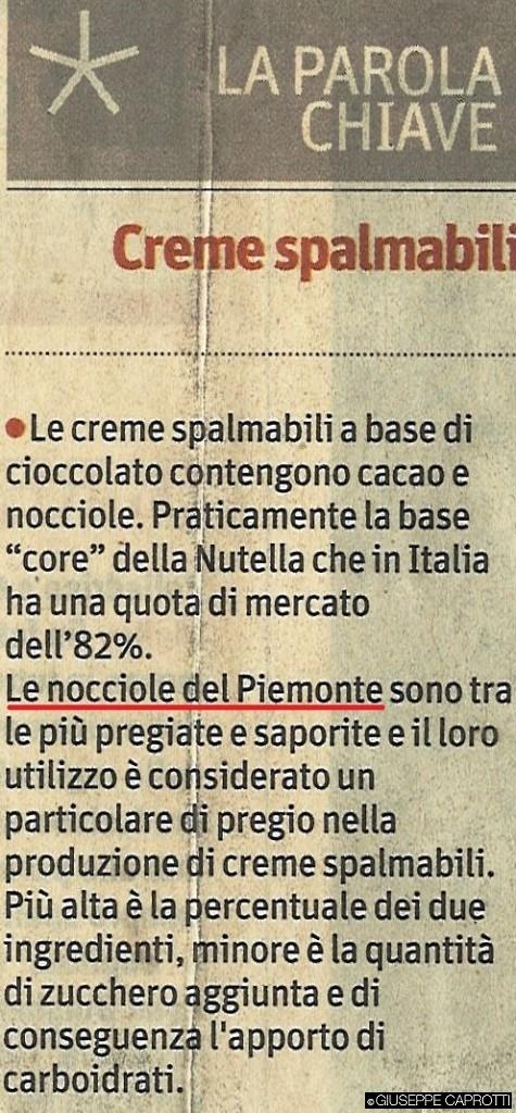 Ferrero nocciole Piemonte il sole 16 dicembre 2015