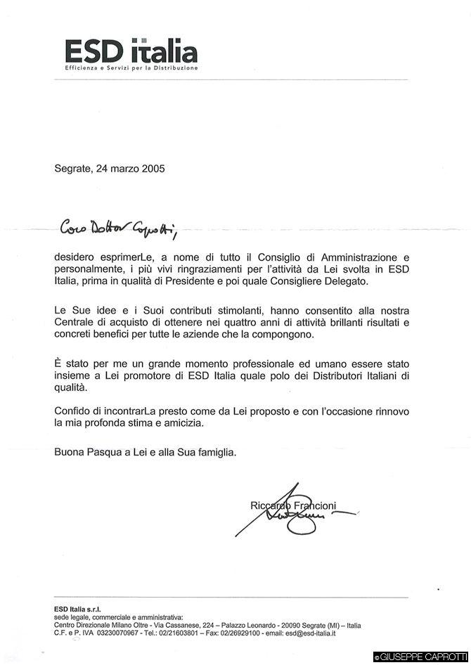 Francioni lettera 2005