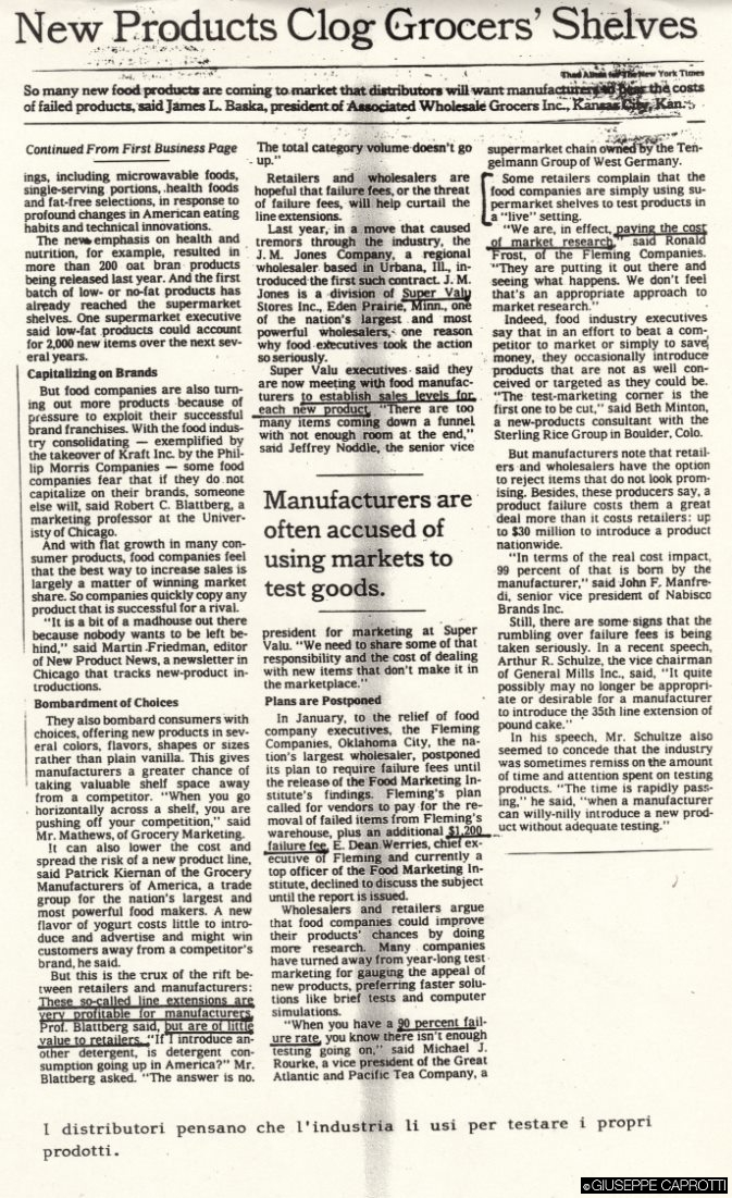 New products clog grocery NYT maggio 1990 1