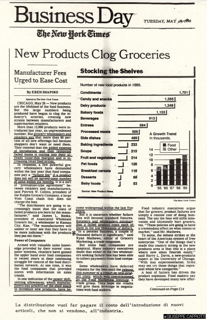 New products clog grocery NYT maggio 1990
