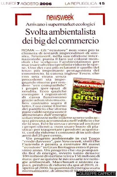 Tutela ambientale, il progetto di Tesco (Agosto 2006)