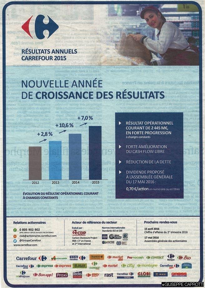 carrefour resultats 2015