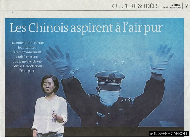 chinois aspirent a l'air pur Le Monde sept 2015