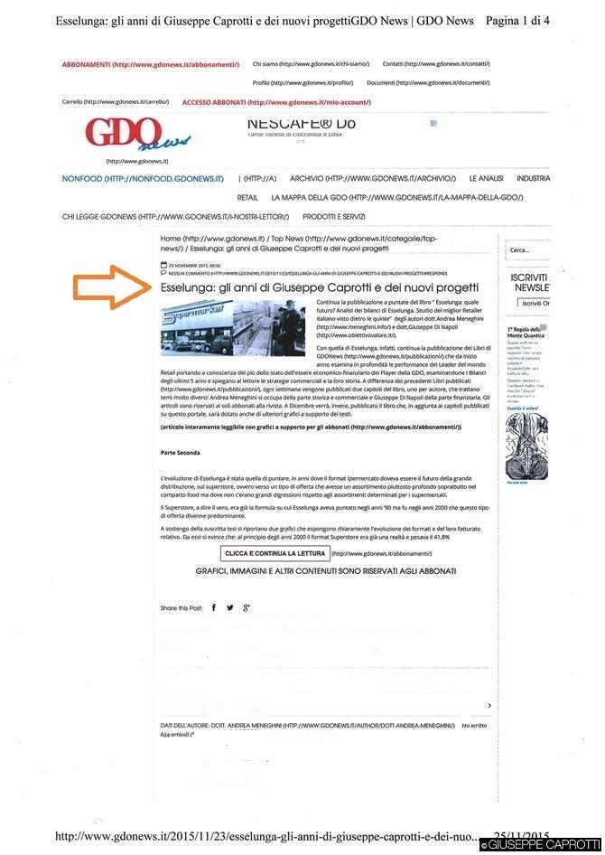 esselunga gdo news nov 2015