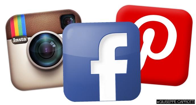 facebook istagram pinterest