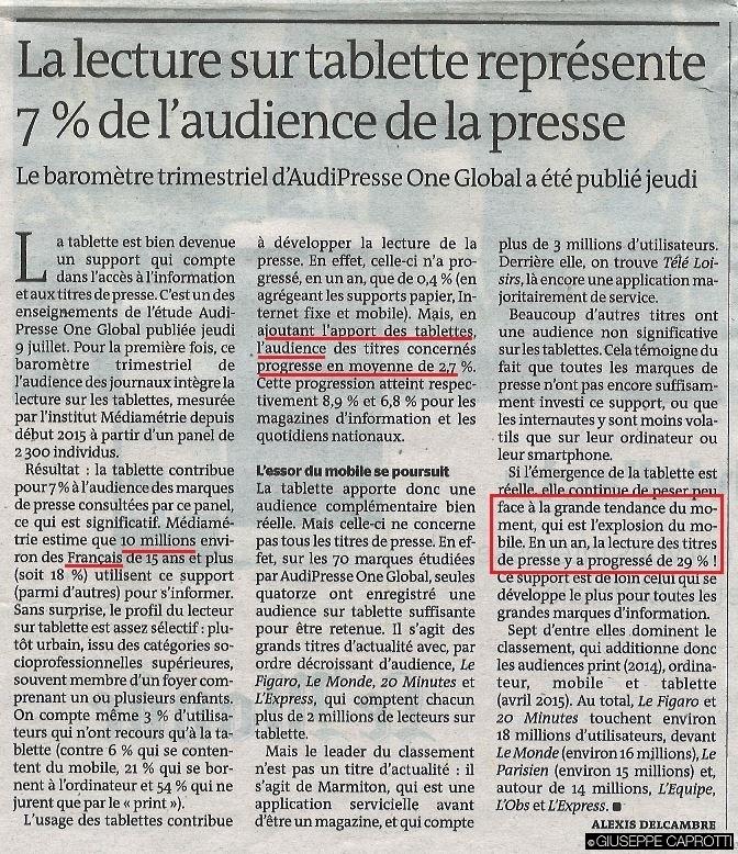 Le Monde 10 luglio 2015