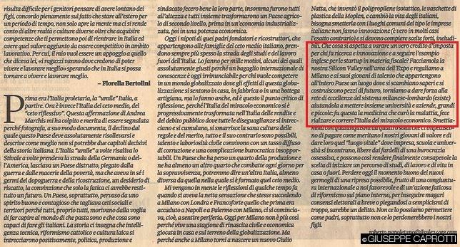 l'italia del ceto medio articolo il sole 24 ore 18 pttobre 2015