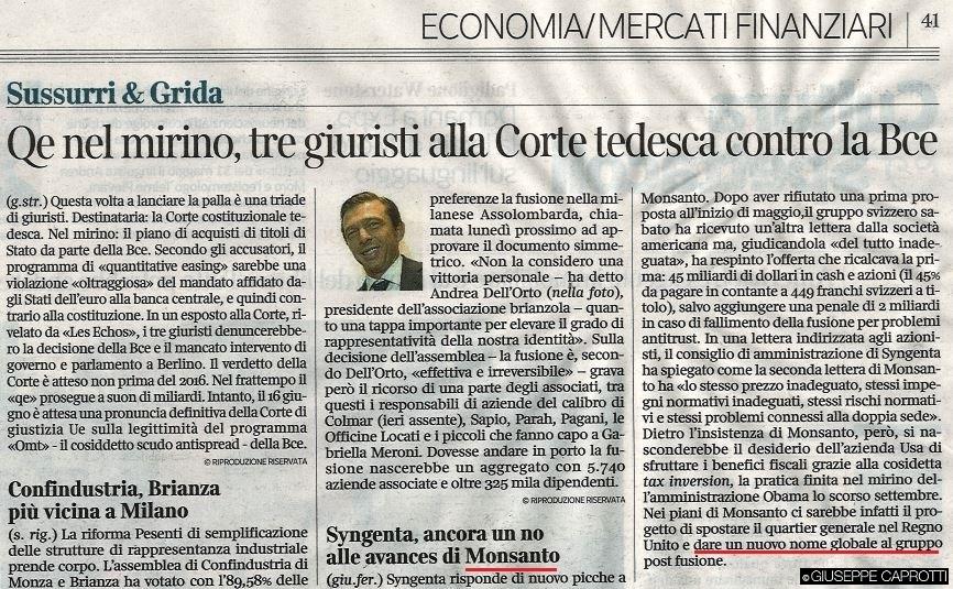 Corriere della Sera 9 giugno 2015