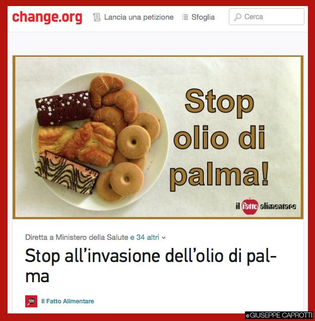 olio di palma petizione