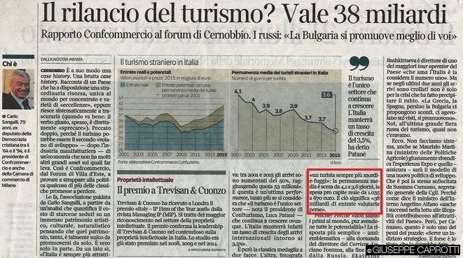 rilancio turismo vale 38 miliardi corriere 20 marzo 2016