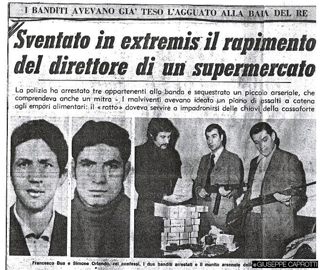 sventato in extremis rapimento al supermercato 1972